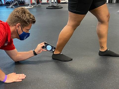 ankle dorsiflexion measurement during lunge