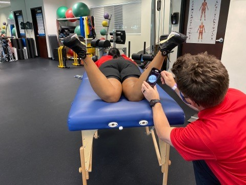 internal rotation of hips in prone position