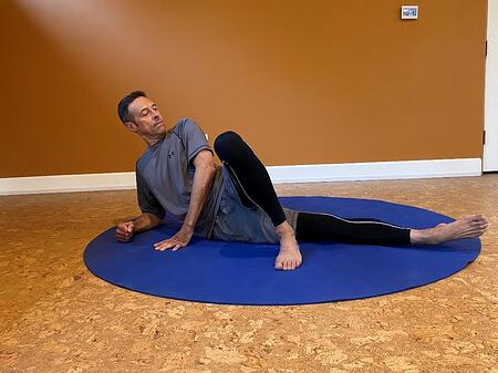 modified plank to finish off stretch