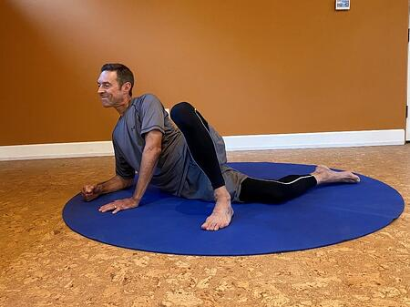 bend knee and fully stretch out with progression