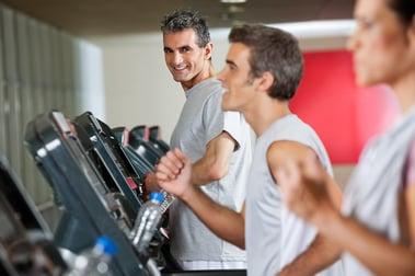 Men Running on Treadmill