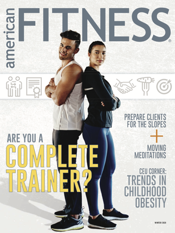 Cover of American Fitness Magazine Winter 2020