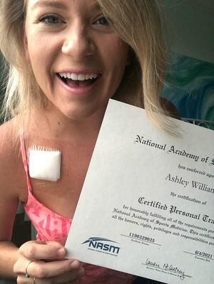 Ashley Williams holding NASM-CPT certificate