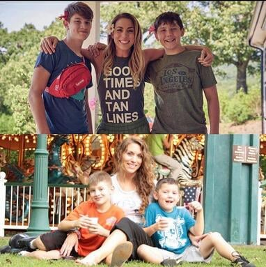 Renee Pickett with her two sons