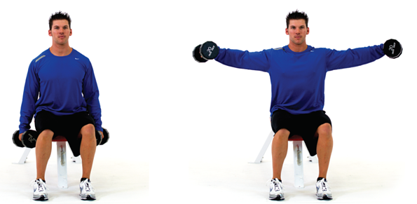 Straight arm lateral dumbbell raise