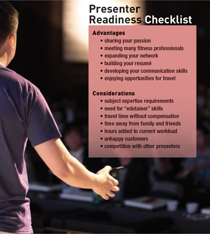 Fitness Presenter Readiness Checklist<br />