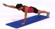 static pushup with arm lift
