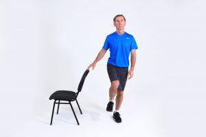 Single leg balance with support