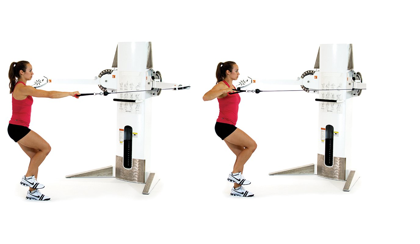 Single-leg, single-arm cable row
