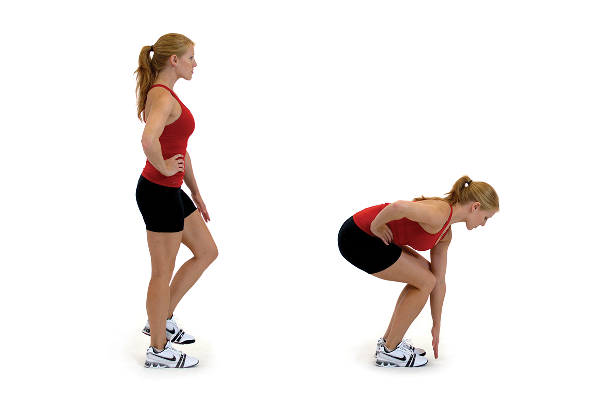 Single-leg squat with touch