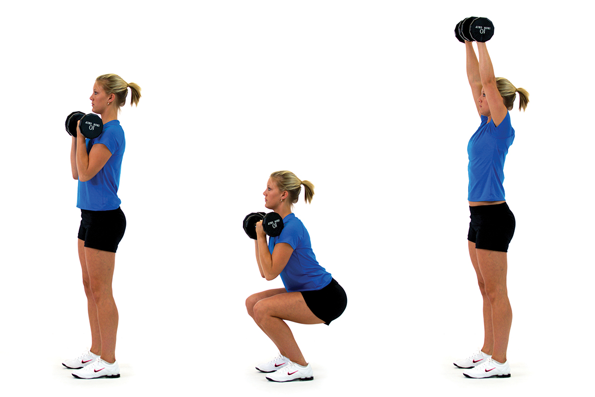 Squat to press