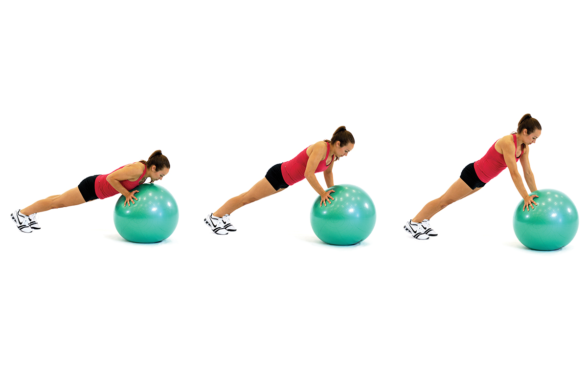 Stability ball pushup