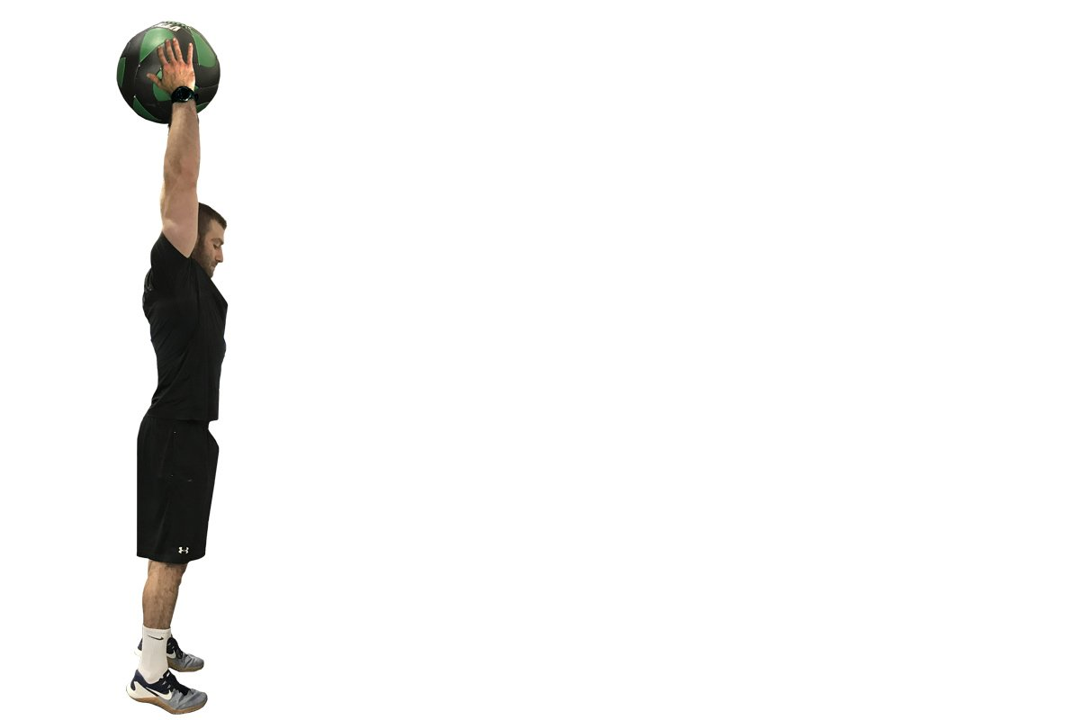 medicine ball slam exercise