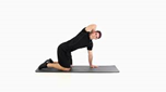 man doing a thoracic spine stretch
