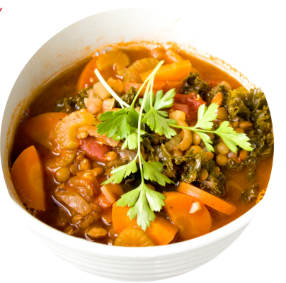 lentil kale minestrone for vegans