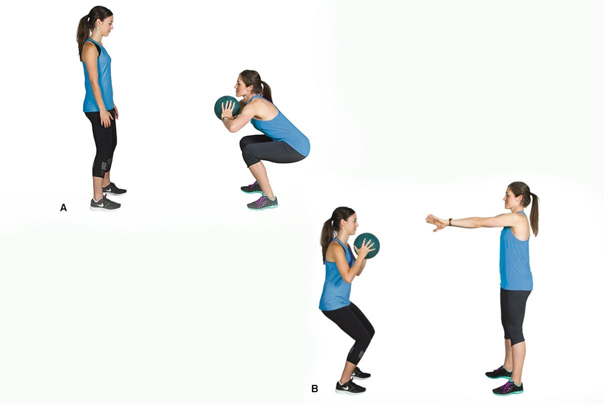 squat ball pass