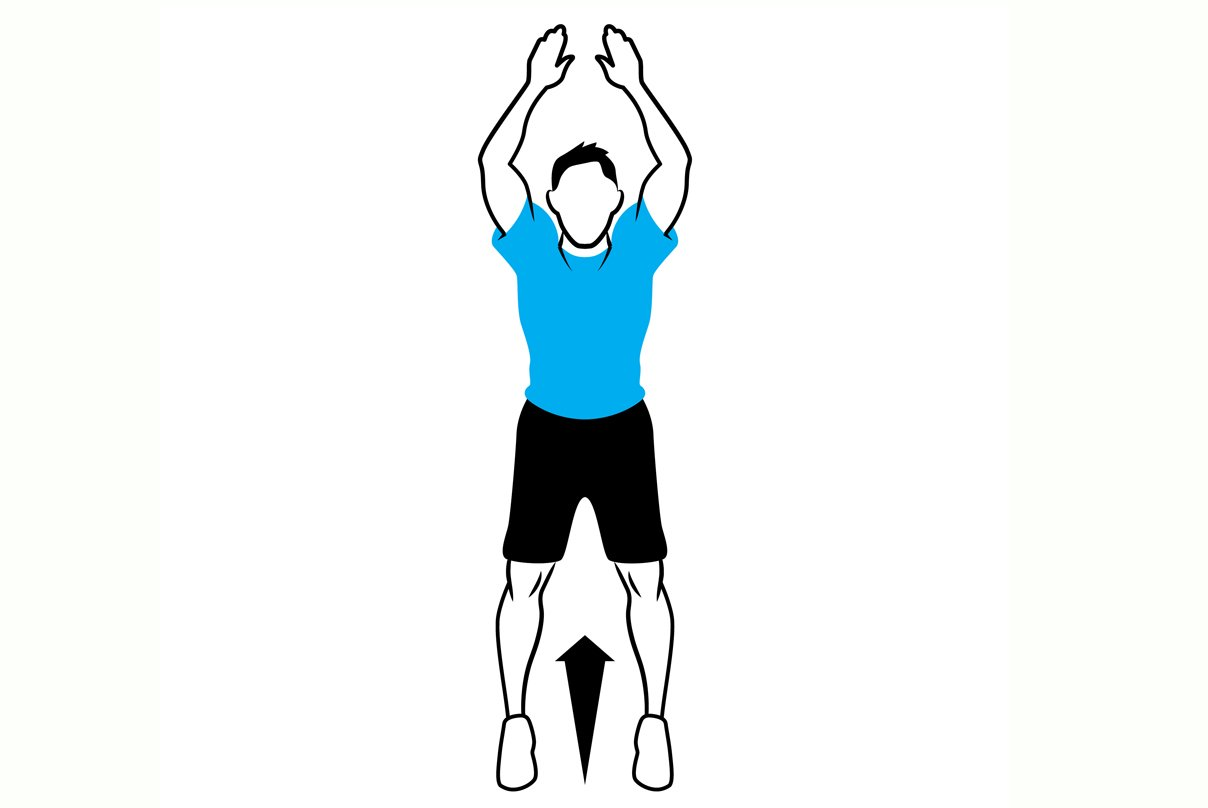 illustration of a squat jump