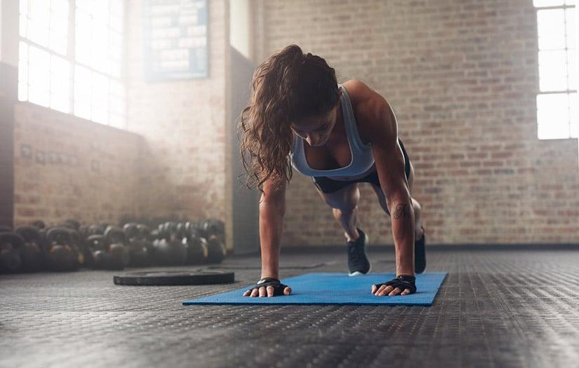 Woman doing push ups