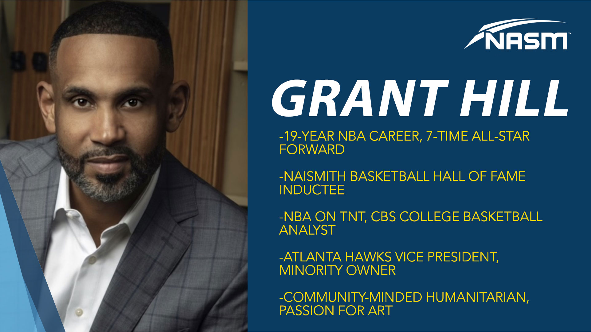 NBA Star Grant Hill NASM