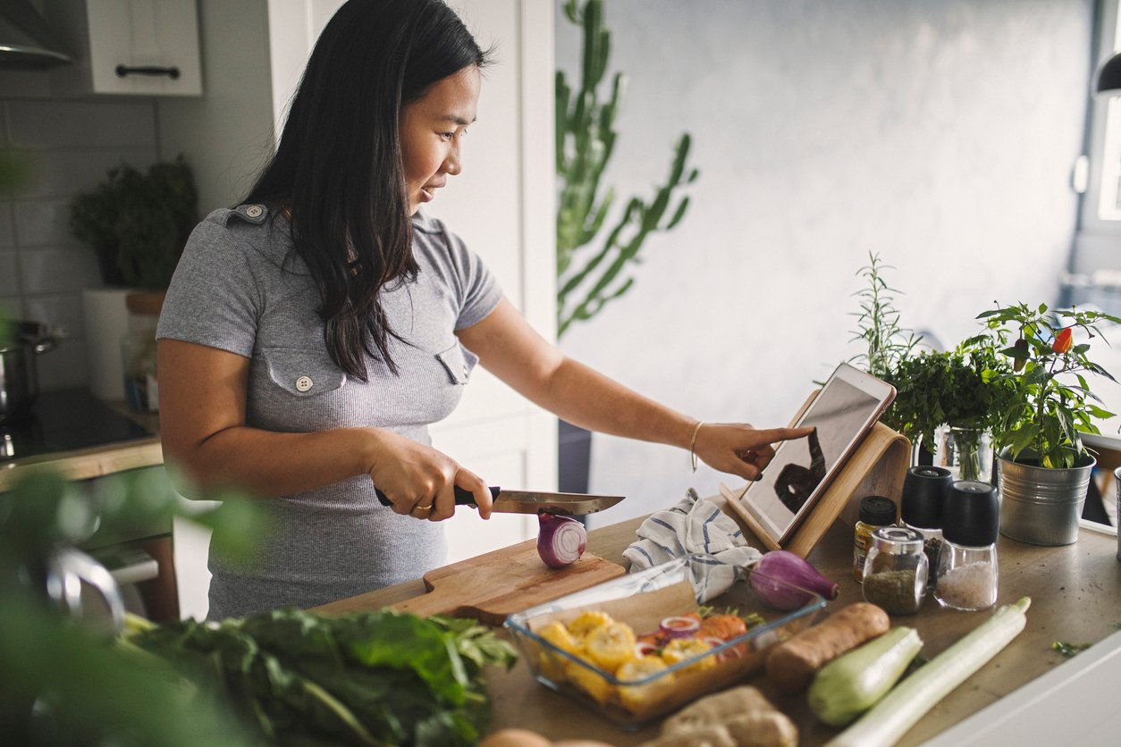 Cooking Healthy Meal at Home