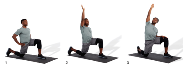 man doing stretches