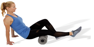 woman doing active stretching
