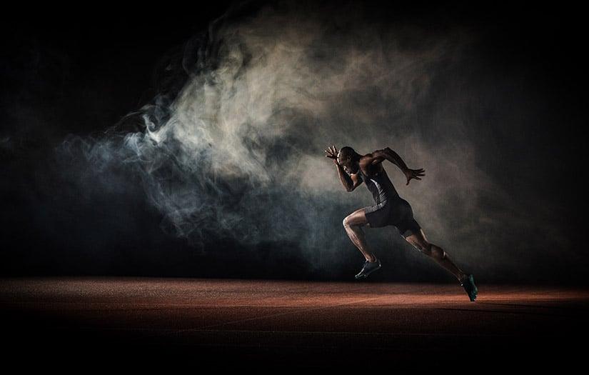 an athlete sprinting