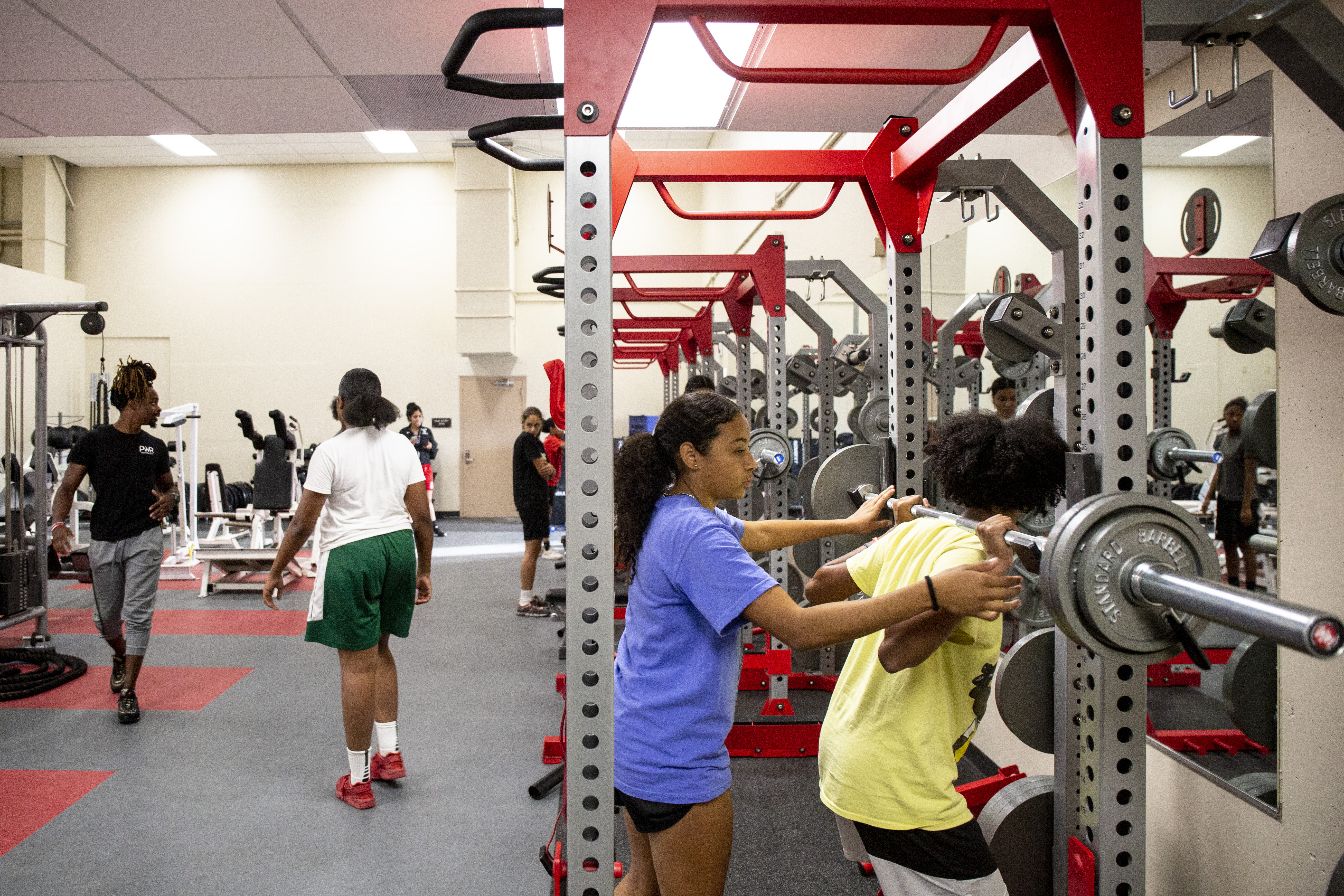 youths training in the gym